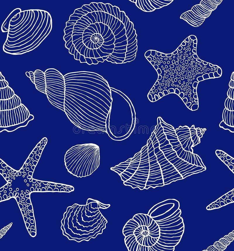 Ocean skorupy ilustracji