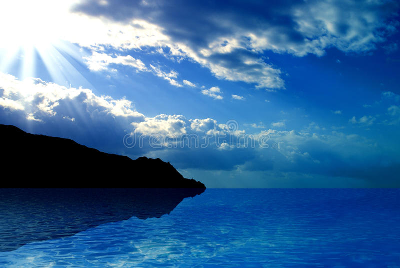Download Ocean and Sky stock photo. Image of sunny, cool, shiny - 21461236