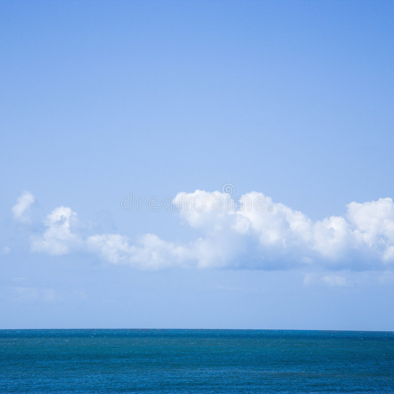 Ocean and sky. stock images