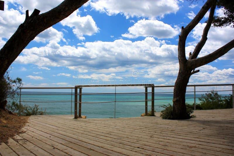 Download Ocean sky view stock photo. Image of metal, rail, feeling - 5103746