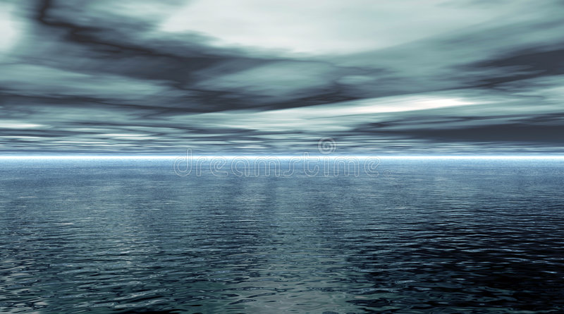 ocean spokojny royalty ilustracja