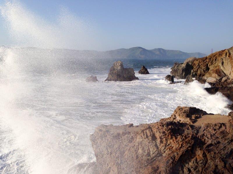 Ocean spray stock images