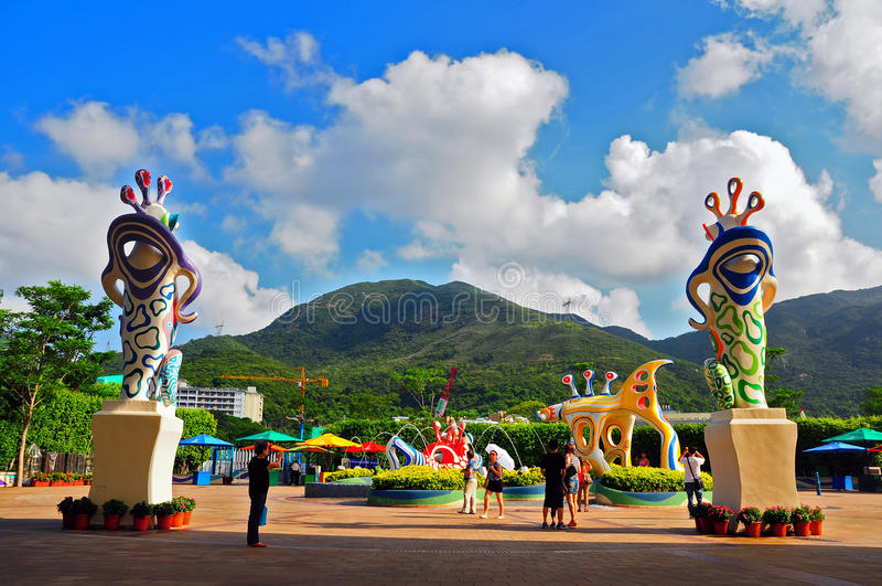 Ocean square at ocean park hong kong stock photo