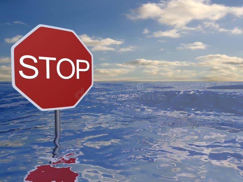 Ocean stop vector illustration