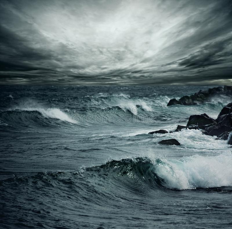 Ocean storm royalty free stock photo