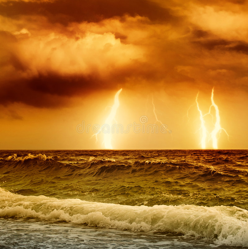 Ocean storm royalty free stock photography