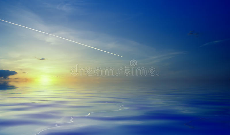 Download Ocean sunrise stock image. Image of heaven, abstract - 12696523