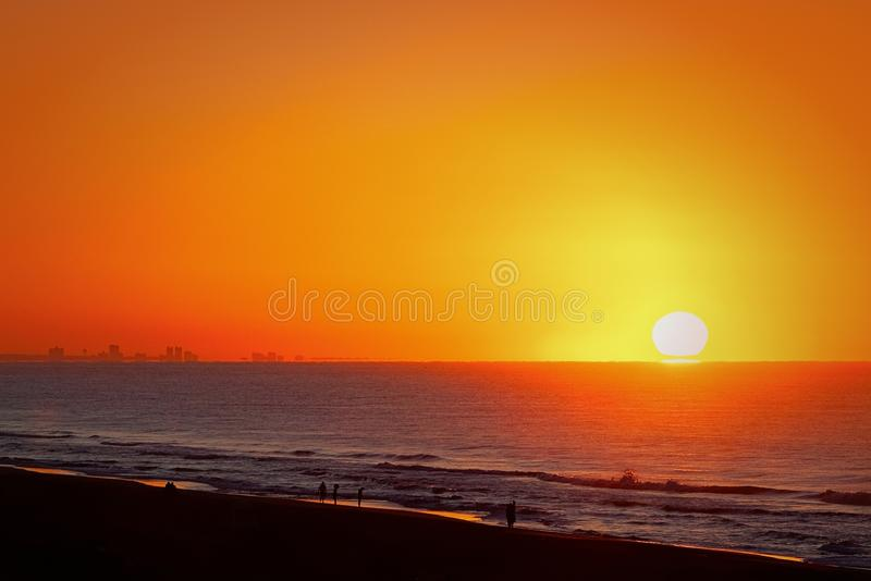 Ocean sunrise stock image