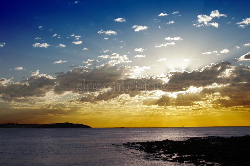 Ocean Sunrise Royalty Free Stock Images