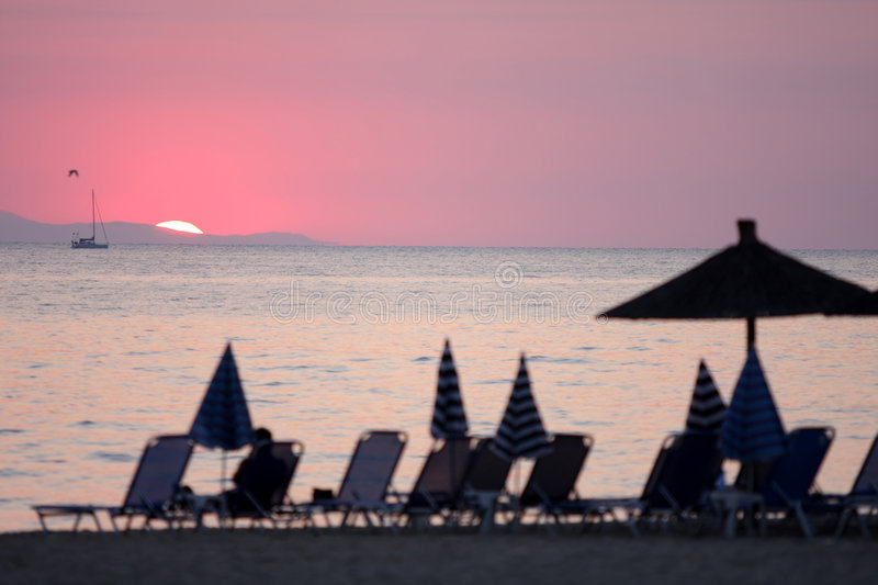 Download Ocean And Sunrise In Greece Stock Image - Image: 5891301