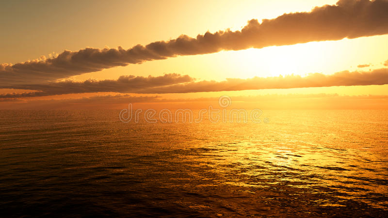 Download Ocean Sunrise Sunset stock illustration. Image of nature - 13808945