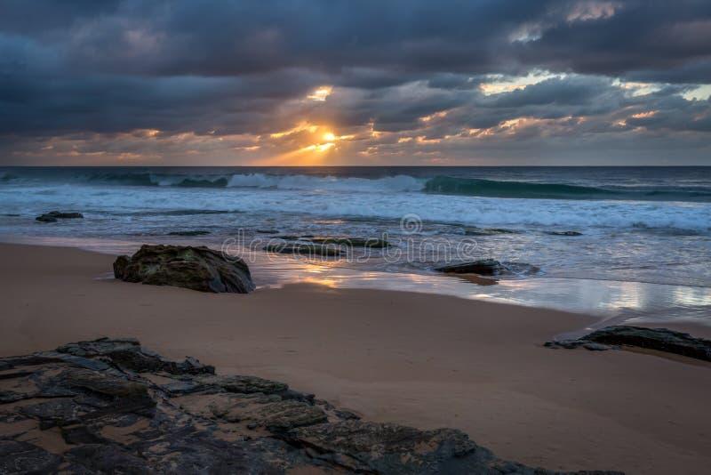 Ocean Sunrise stock photography