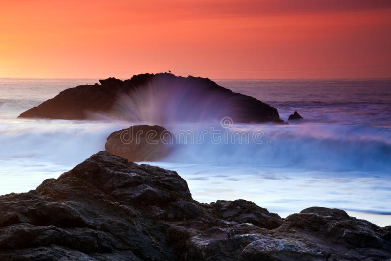 Download Ocean Sunset stock photo. Image of shore, break, coast - 13037408