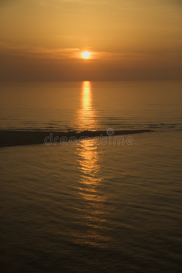 Download Ocean sunset. stock image. Image of calm, coastal, picturesque - 3416995