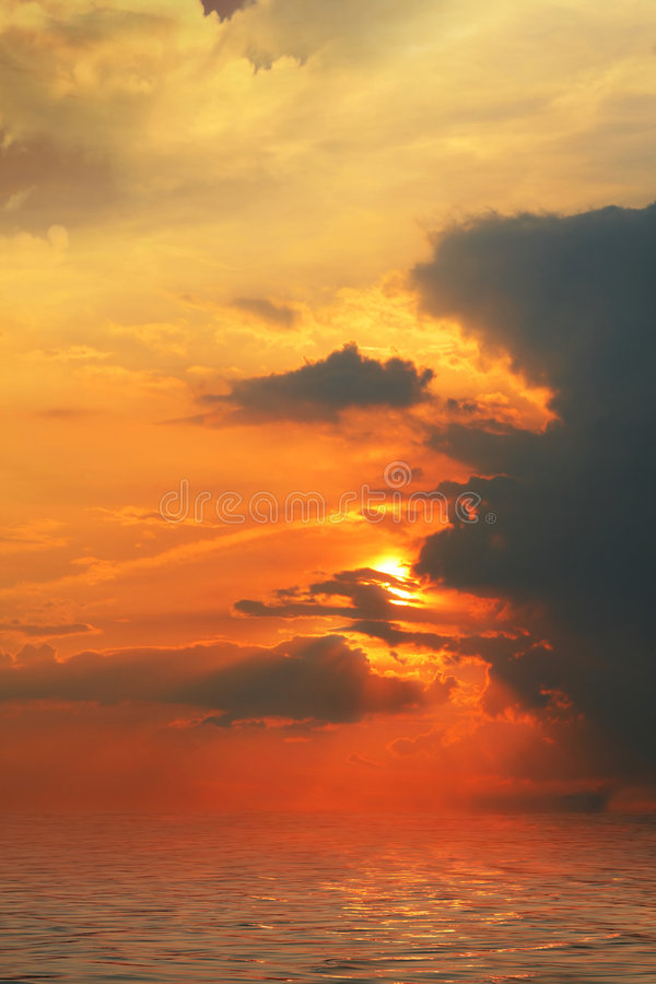 Download Ocean sunset stock photo. Image of dark, purple, foam - 5217922