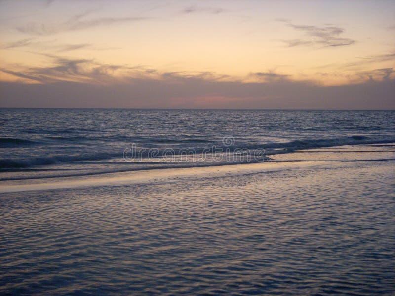Ocean after sunset royalty free stock photos