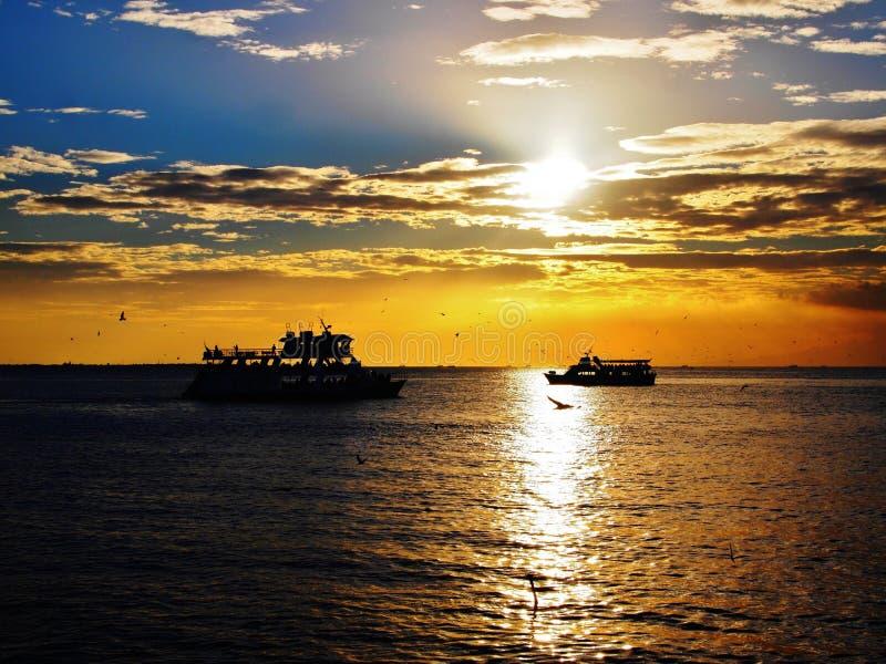 Download Ocean Sunset stock image. Image of boat, beautiful, cruise - 35830525