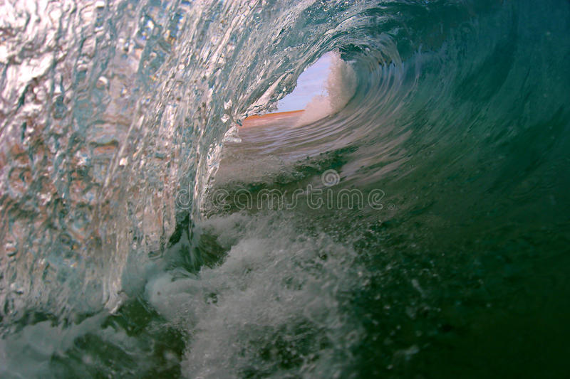 Ocean Surfing Wave in Honolulu Hawaii royalty free stock image