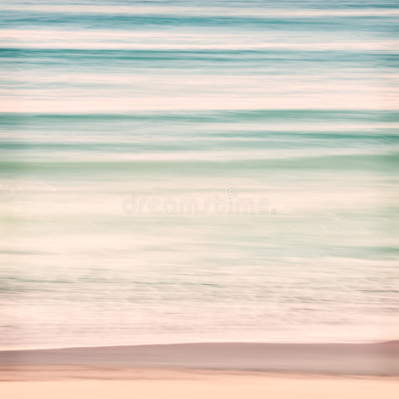Ocean Swells. An abstract ocean seascape with blurred panning motion. Image displays soft pastel colors with subtle cross-processing