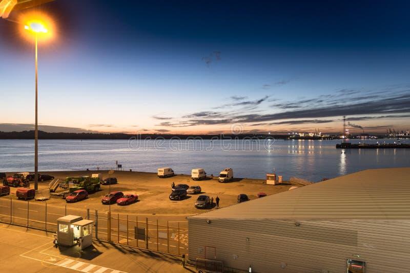 Ocean Terminal and Southampton water royalty free stock image