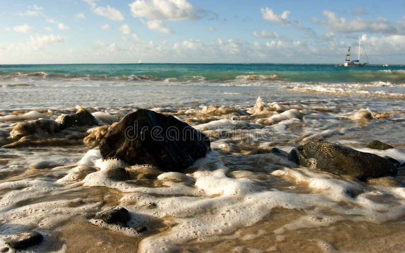 Ocean tide royalty free stock images