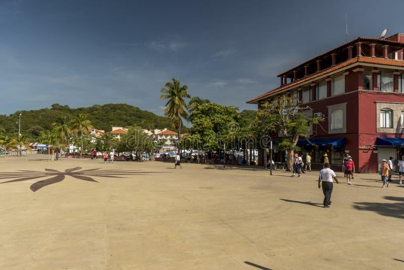 The Plaza in Santa Cruz Huatulco stock photography