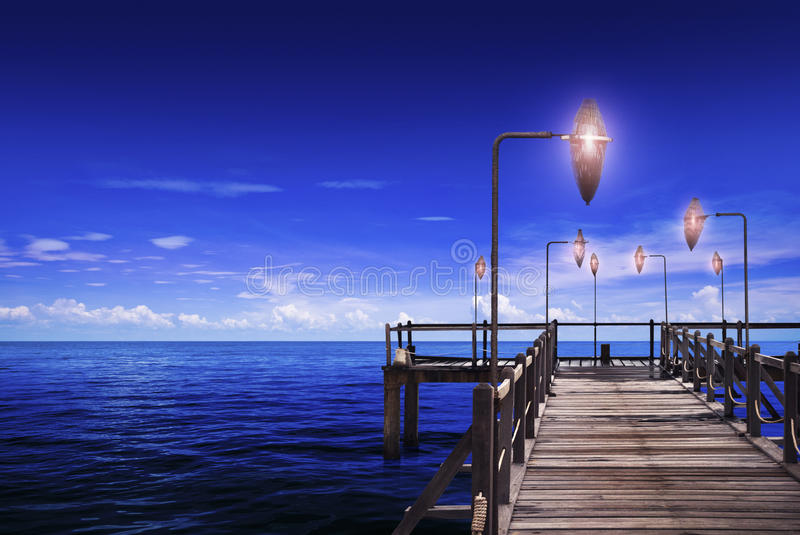 Download Ocean & Trestle stock photo. Image of weather, vacation - 32436382
