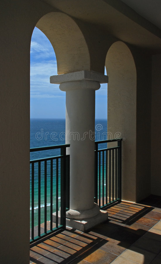 Ocean Through Twin Arches royalty free stock photography