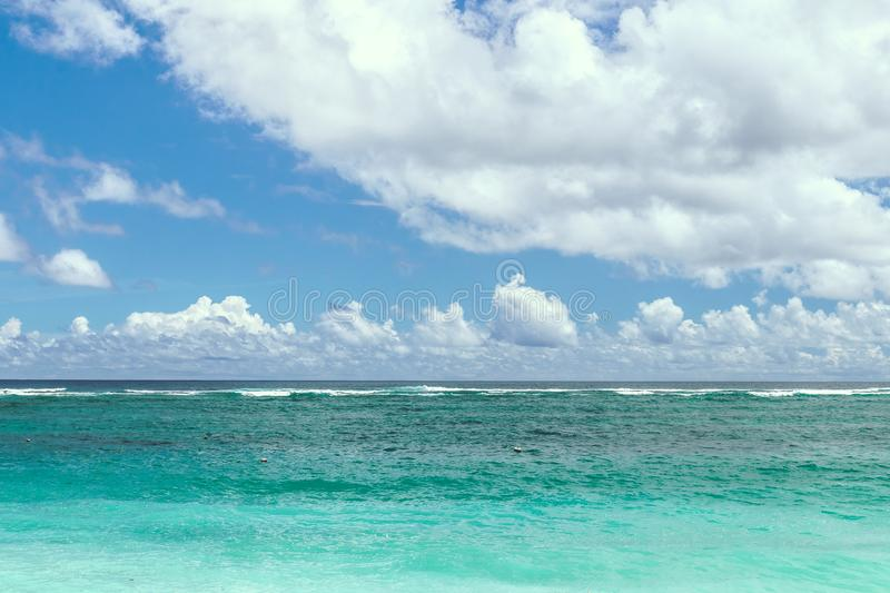 Ocean Under Calm Sky royalty free stock photo