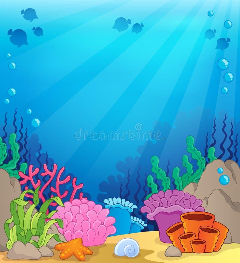 Ocean Underwater Theme Background 4 Stock Vector Image