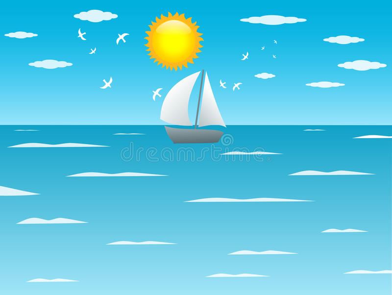 Download Ocean view stock illustration. Image of ocean, illustration - 18470502