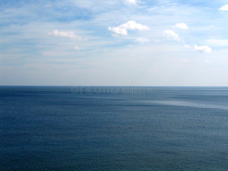 Ocean view. Detail of ocean and sky royalty free stock photo