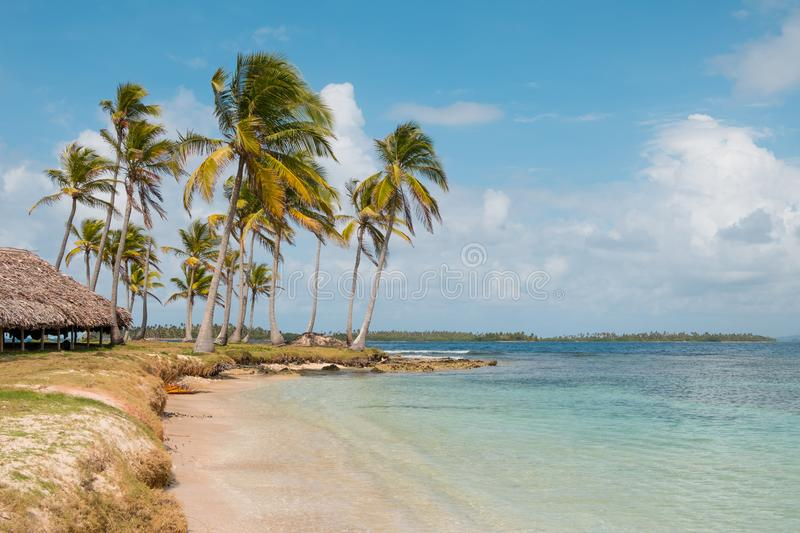 Ocean view bungalow - beach hut on caribbean island -. Ocean view bungalow - beach hut on caribbean island stock images