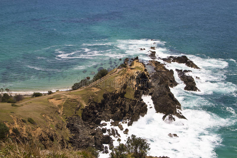 Ocean view at Byron Bay, Australia. Ocean view at the most easterly point of the Australian mainland, Byron Bay, Australia stock photo