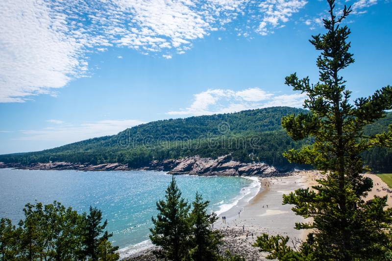 Ocean View from cliff in Acadia National Park royalty free stock photos