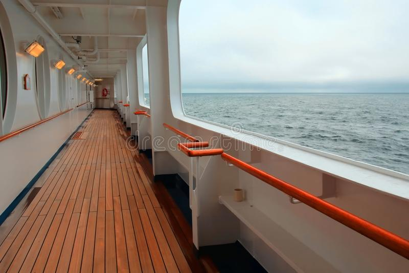 Ocean view from a cruise ship royalty free stock photography