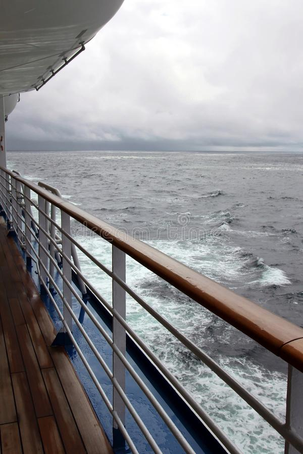 Ocean view from a cruise ship stock photo