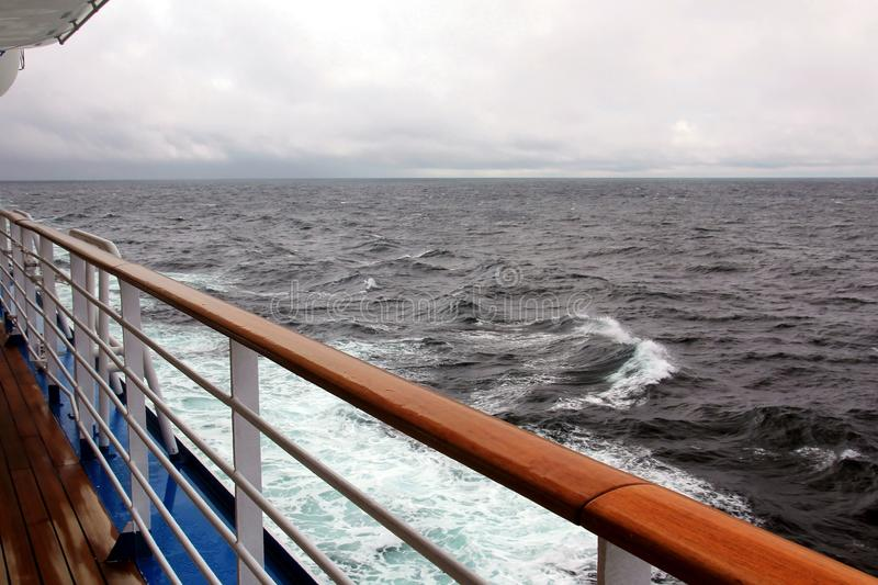 Ocean view from a cruise ship stock images