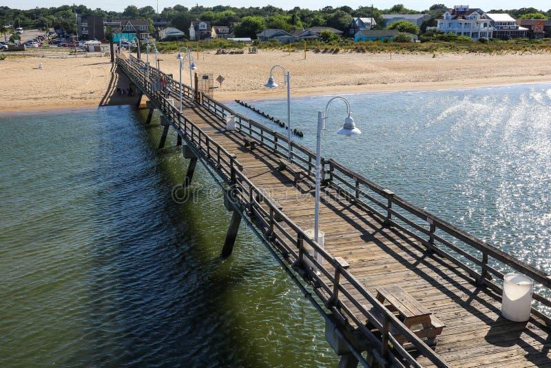 Ocean View Fishing Pier in Norfolk, VA royalty free stock photos
