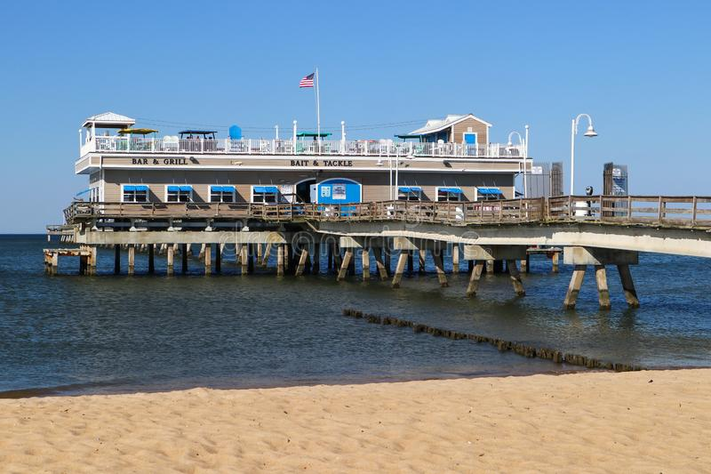 Ocean View Fishing Pier and Restaurant stock photography