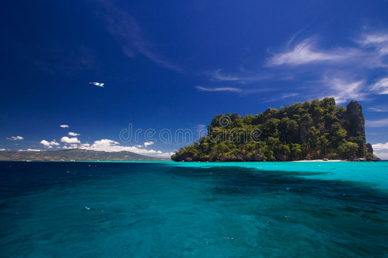 Ocean View of island paradise royalty free stock images