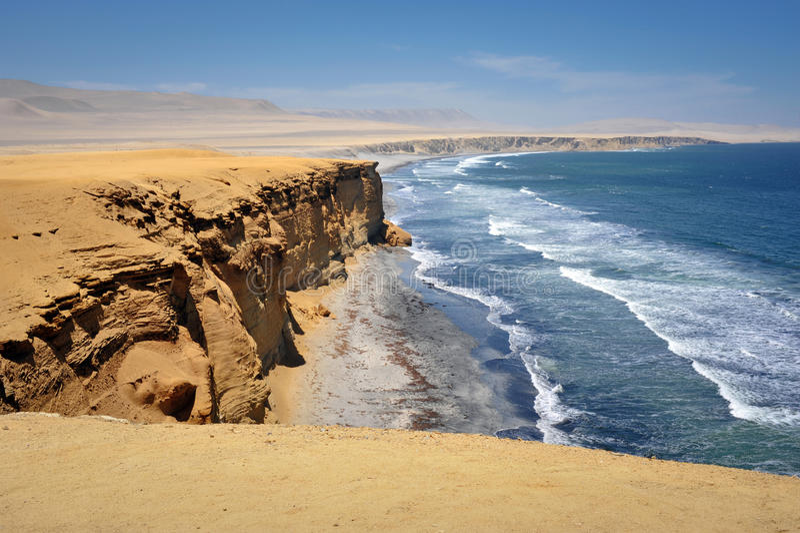 Ocean view in Paracas, Peru stock photo
