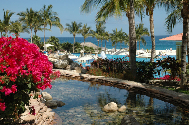 Ocean View At A Resort In Cabo San Lucas, Mexico Stock Photo