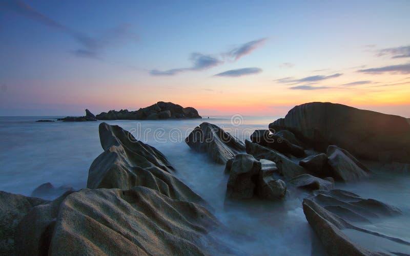 Ocean View on Sunset stock photos