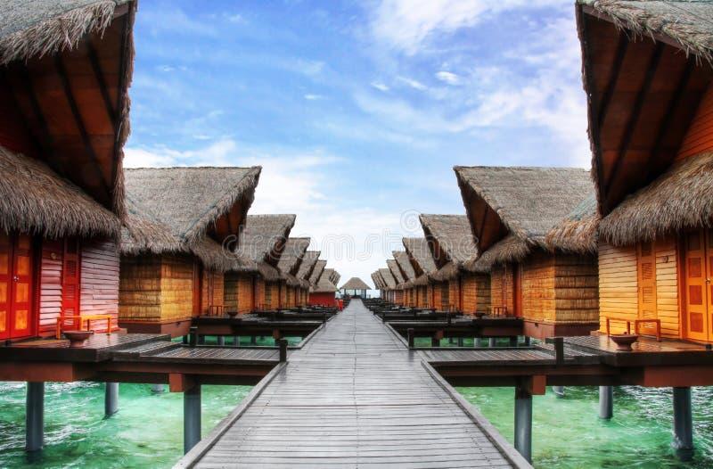 Ocean villas royalty free stock photos