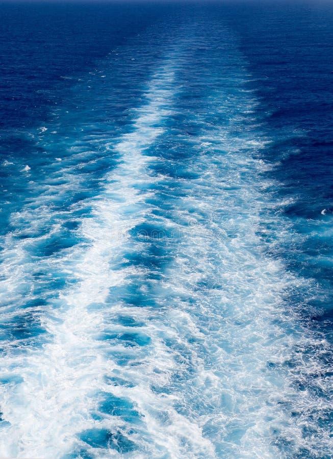 Download Ocean Wake stock photo. Image of swim, ship, foam, crystal - 2352296