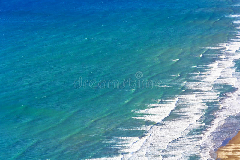 Ocean water and coastline stock image