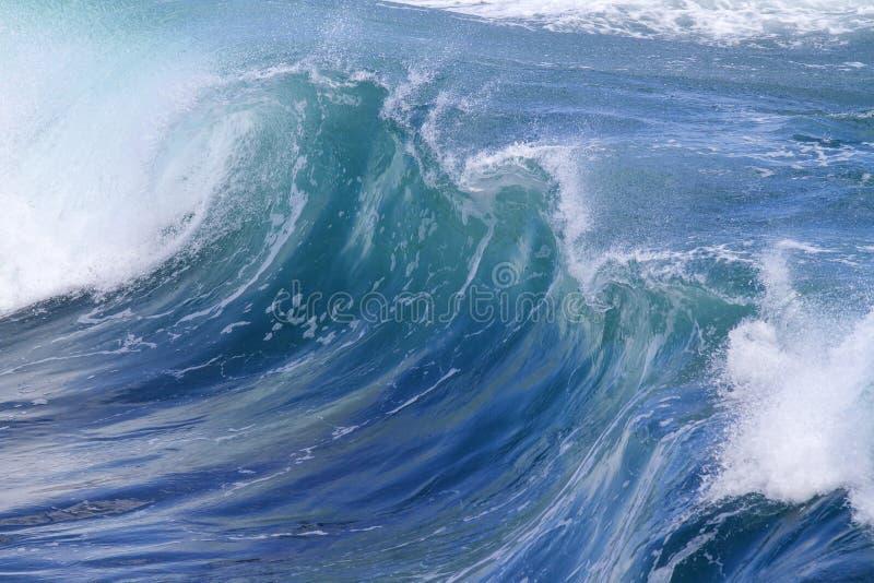 Ocean wave. Blue ocean wave.Indian ocean stock image