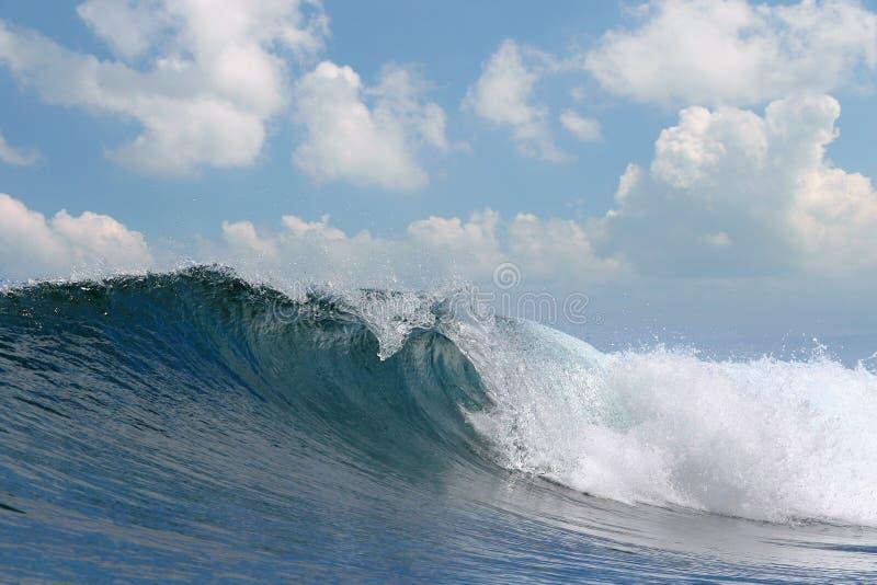 Ocean wave falling down royalty free stock photo