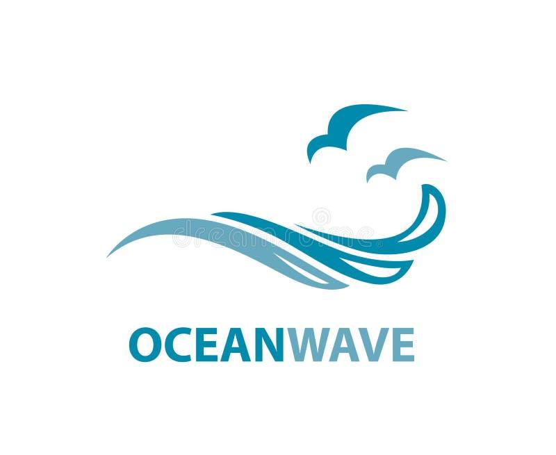 Ocean wave logo vector illustration